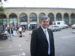 David at Cambridge Station