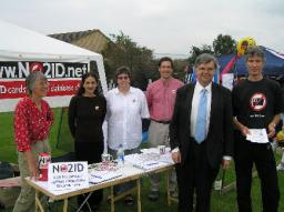 David Howarth and NO2ID campaigners