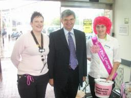David Howarth with Lucy and Ruth at Asda