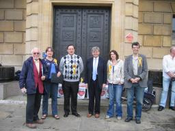 David Howarth MP campaigning against post office closures