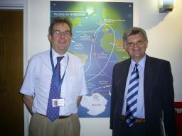 David Howarth MP (right) with Professor Nick Owens