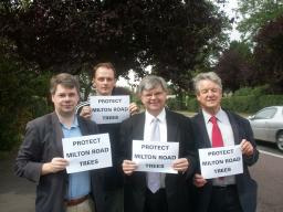 David Howarth with councillors Kevin Wilkins, Neale Upstone and Ian Nimmo-Smith