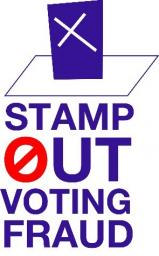 voting fraud logo