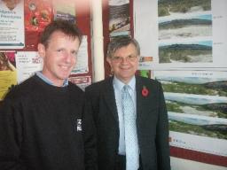 Howarth at nature reserve exhibition