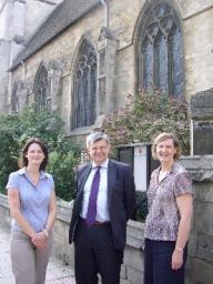 Howarth visits All Saints Church