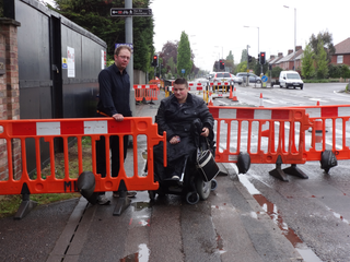 Ian Manning and MJ Black at Milton Road roadworks