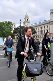 Julian on Parliamentary Bike Ride