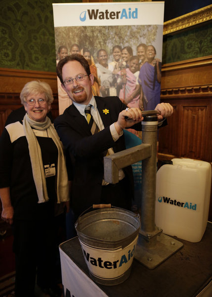 Julian Huppert meets Dr Rosemary Westwell at WaterAid event
