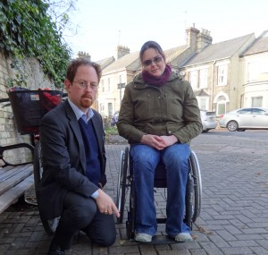 Julian Huppert MP with Cambridge Paralympic Hopeful Claire Connon