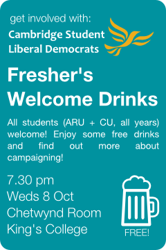 Freshers Welcome Drinks