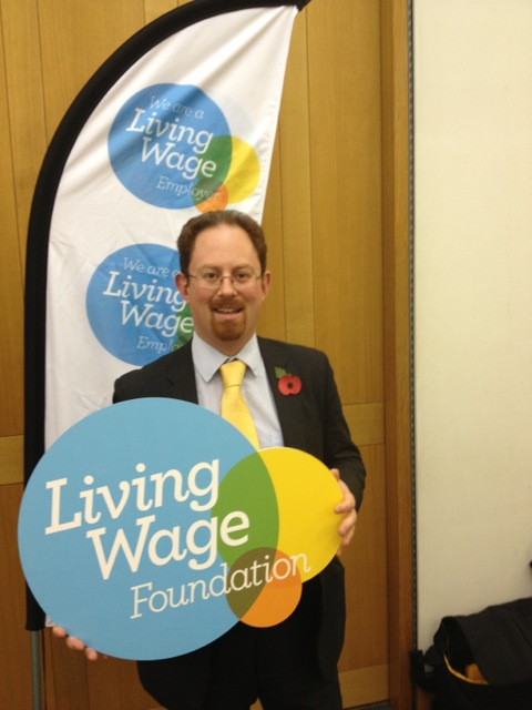 Julian Huppert MP for Cambridge champions living wage