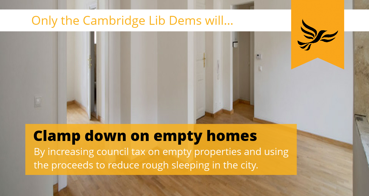 Only the Cambridge Lib Dems will clamp down on empty homes