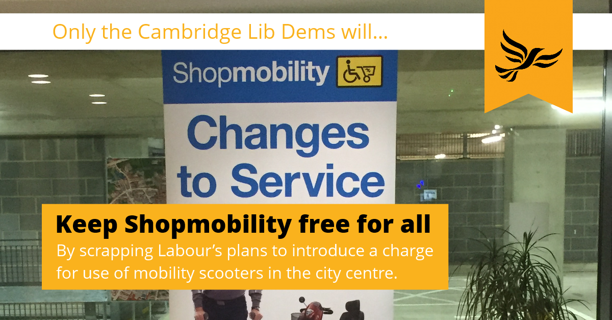Keep Shopmobility Free for All