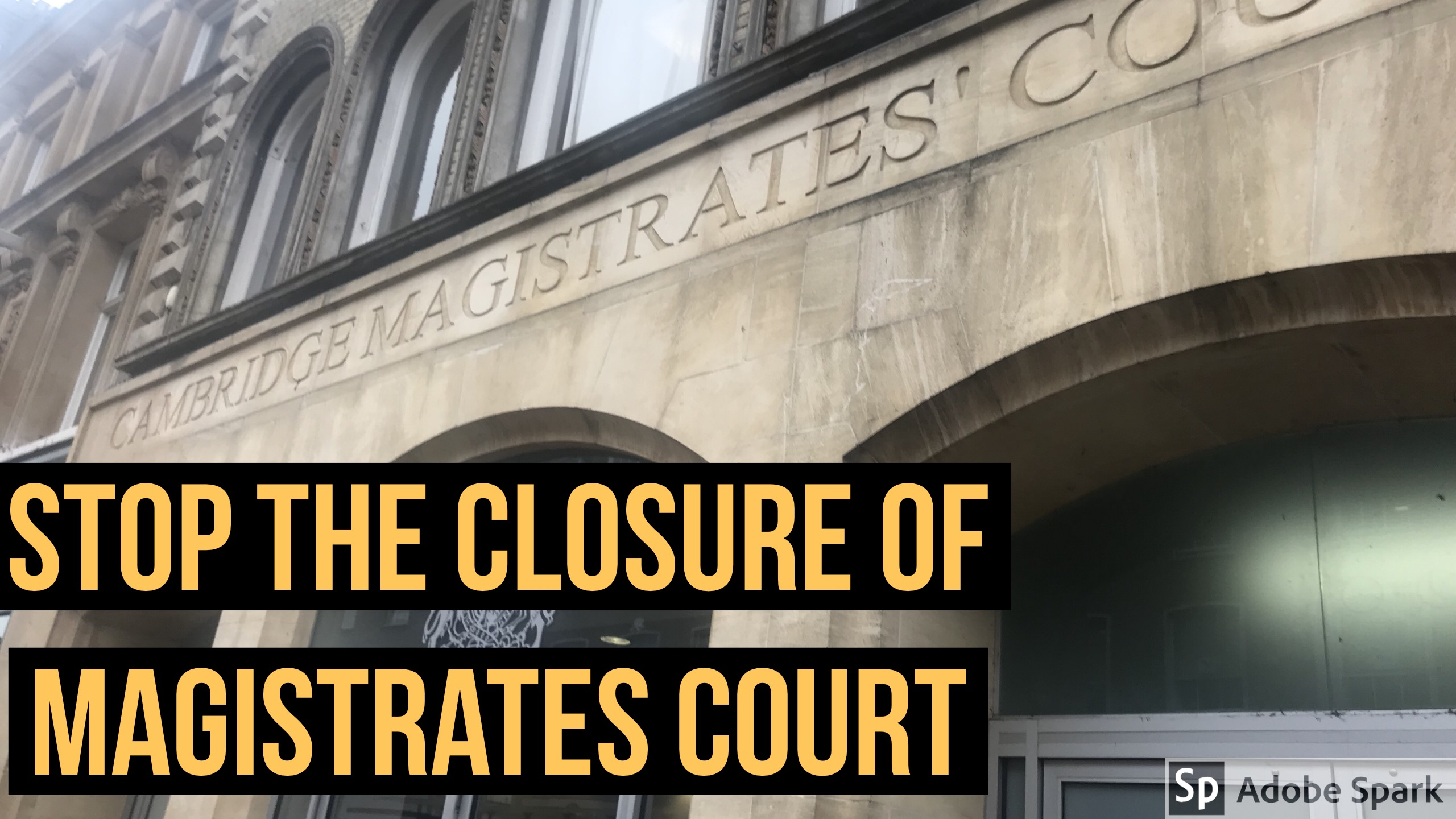 Call to stop closure of Cambridge Magistrates' Court