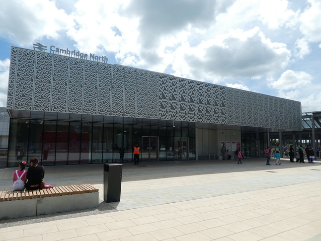 The front of Cambridge North station