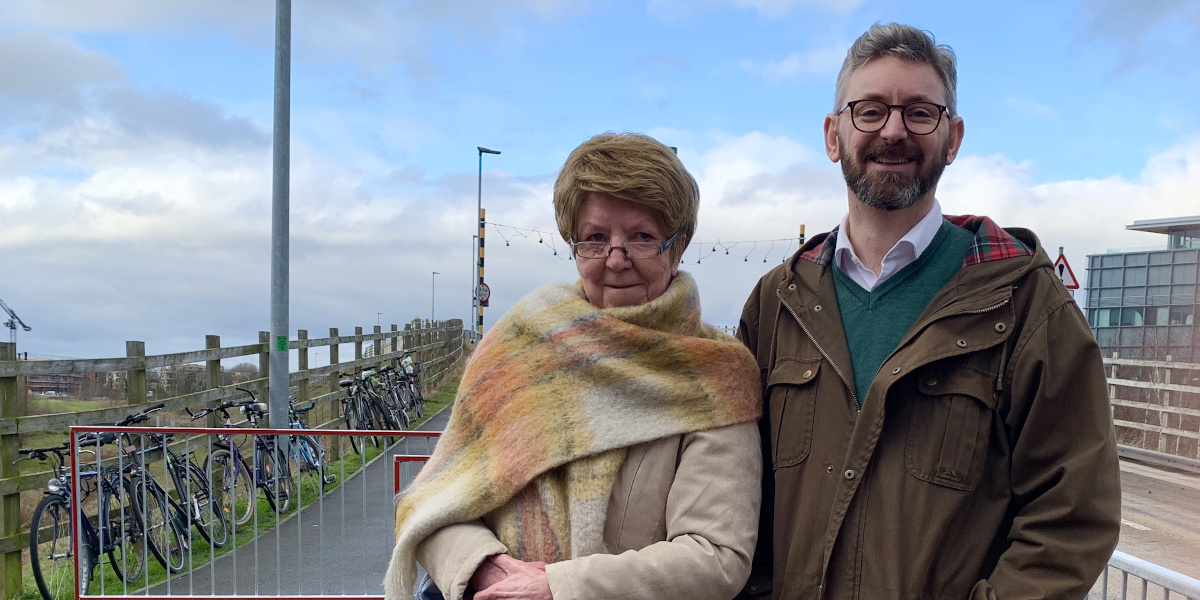 Lib Dem Petition Forces Removal of Cycle Chicane on Busway Bridge