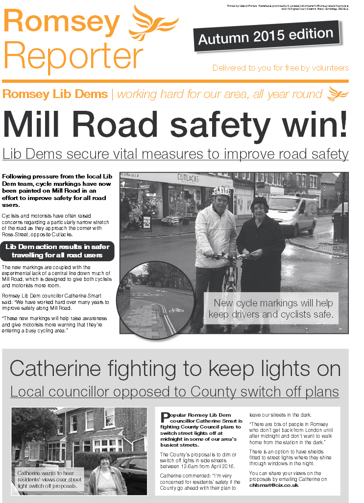 Romsey Reporter Autumn 2015 (page1)