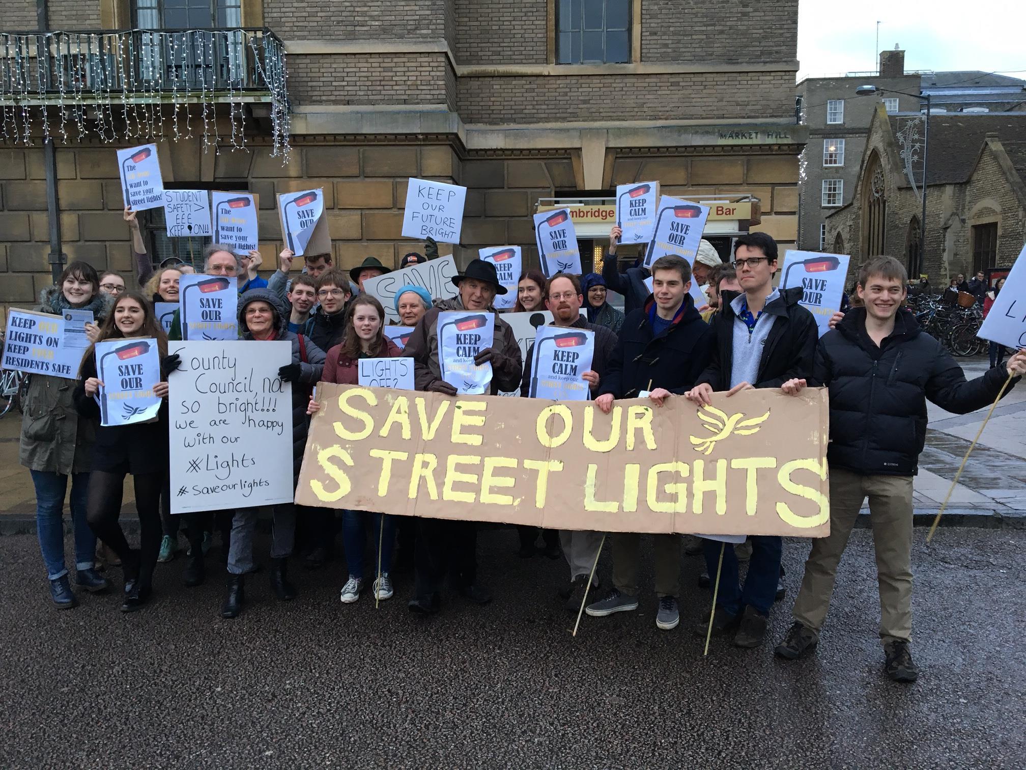 Streetlights protest