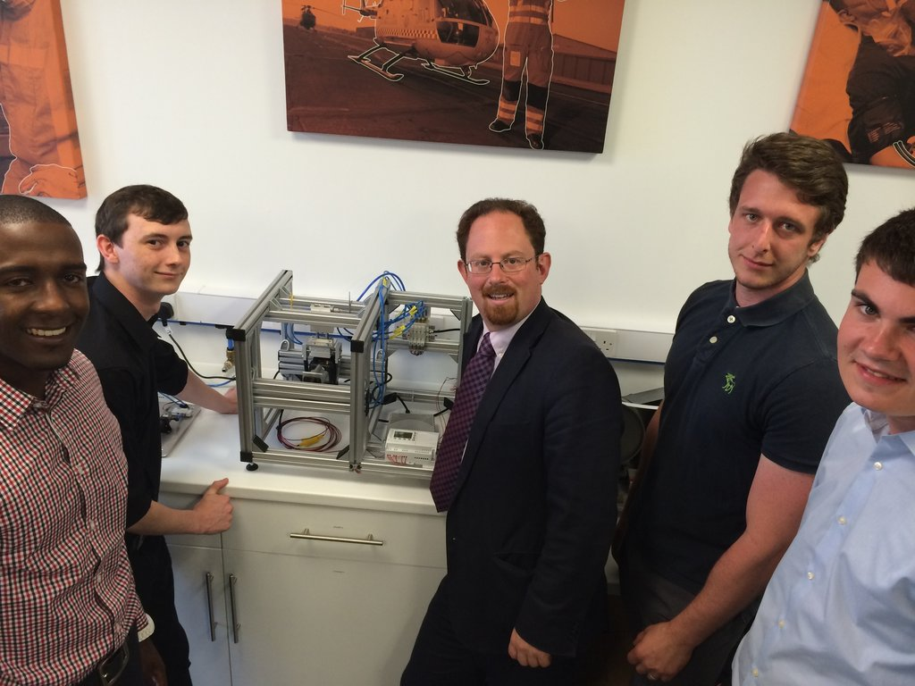 Julian meets apprentices at Sepura