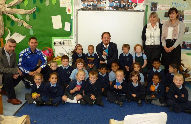 Julian visits a Cambridge school