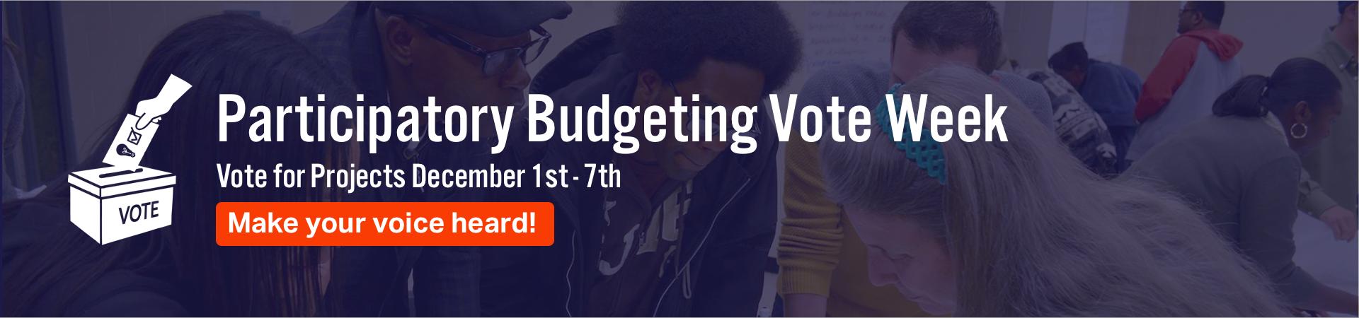 PB Vote Week 2018