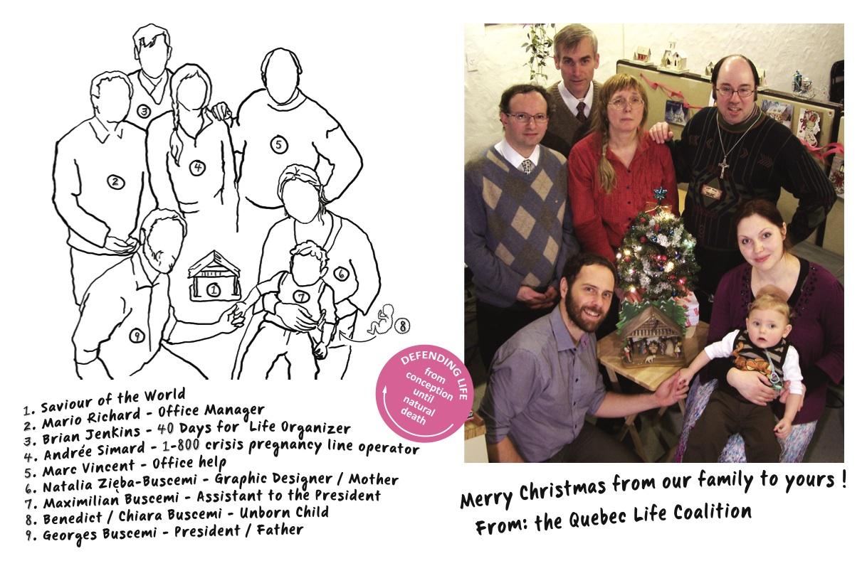 QUEBEC LIFE COALITION CHRISTMAS CARD