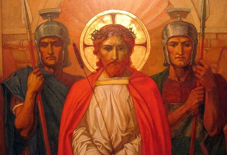 Québec : Où est ta Foi d'Antan, Fruit de ta Jeunesse ? Jesus-couronne_epines-entre_deux_soldats--Wikimedia_Commons