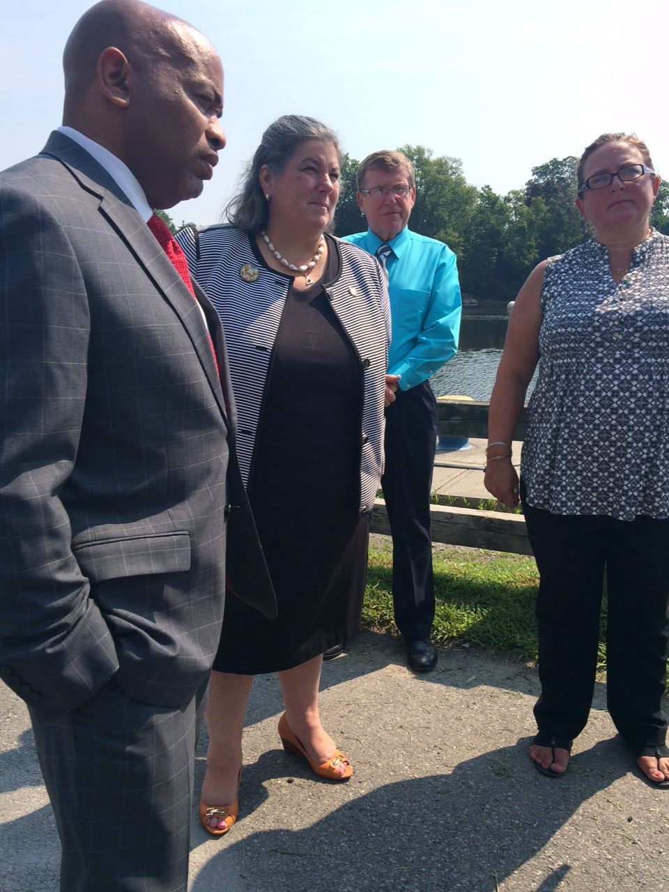 Campaign for a Cleaner Hudson members spoke to NYS Assembly Speaker Carl E. Heastie today in Mechanicville about the GE dredging project and what it means for NY and the communities all along the river that all PCBs are removed from the river.