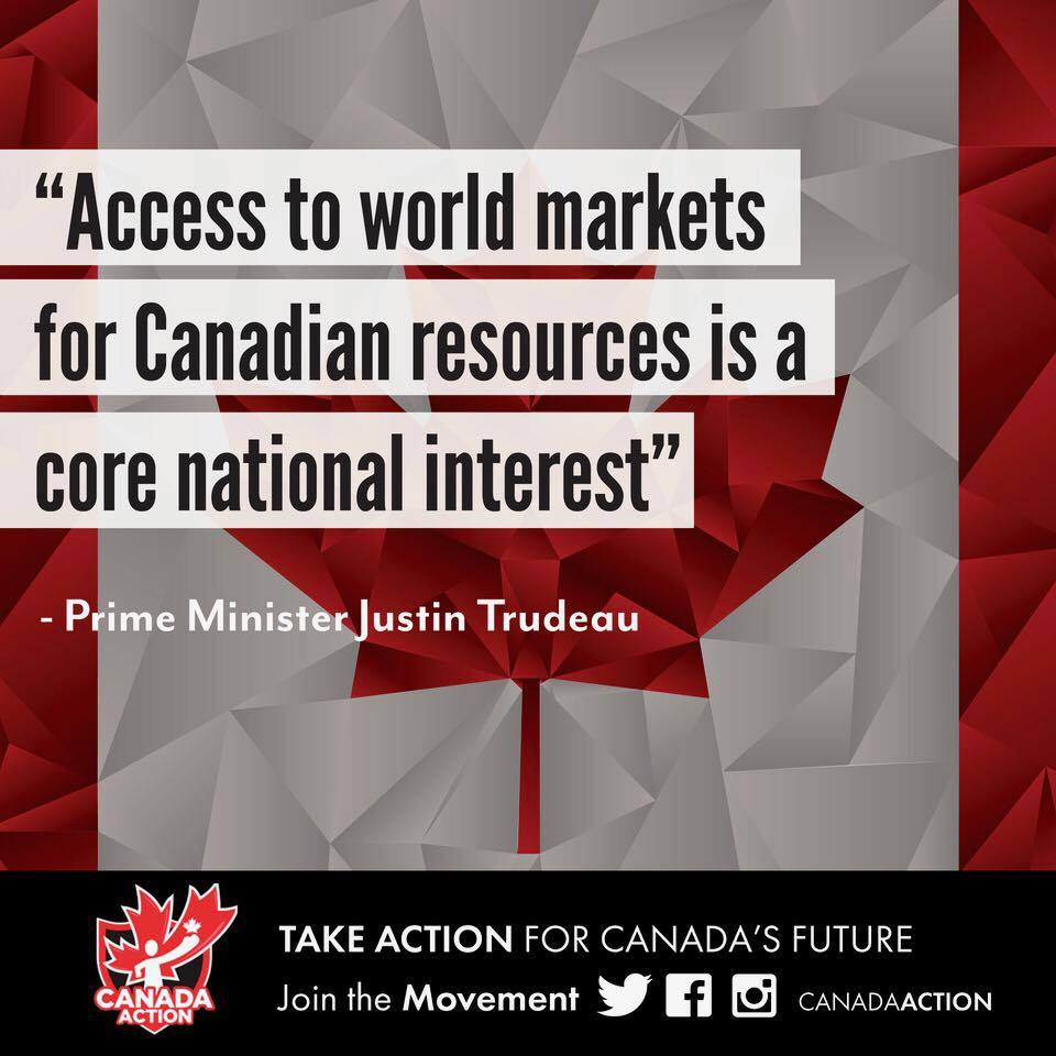 infographic talking about Canadian access to international markets via pipelines