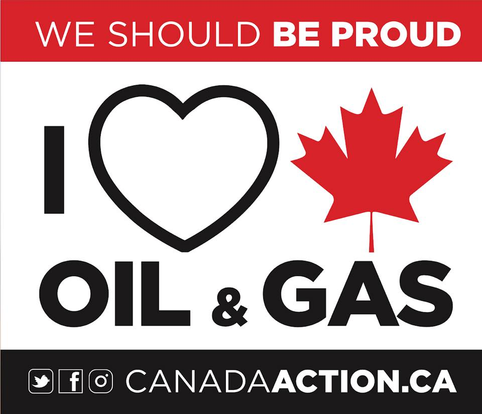canada action i love oil and gas