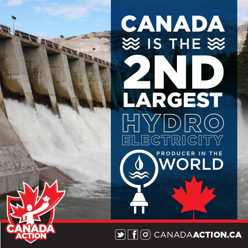 Canada is the World's 2nd Largest Hydro Electricity Producer