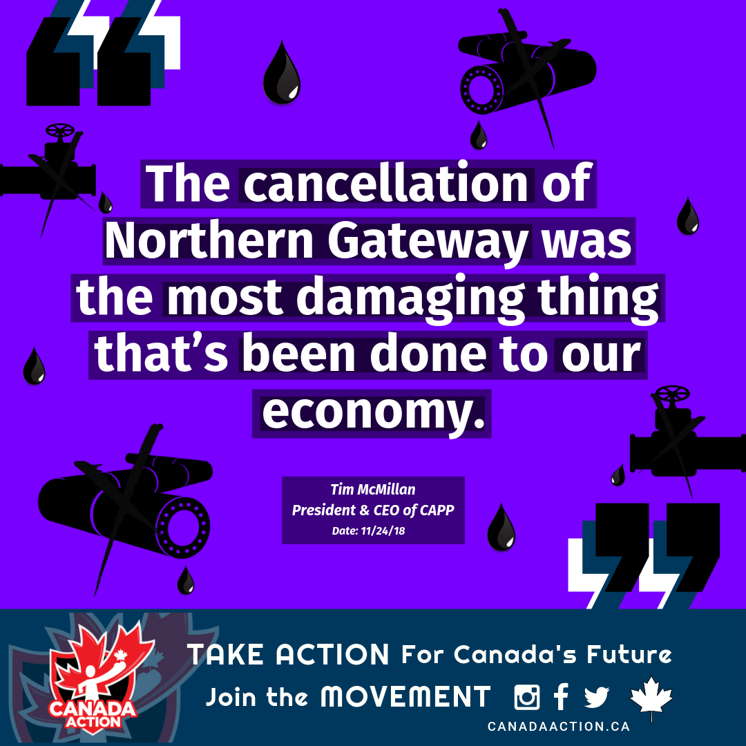 Tim McMillan - Cancellation of Northern Gateway Quote