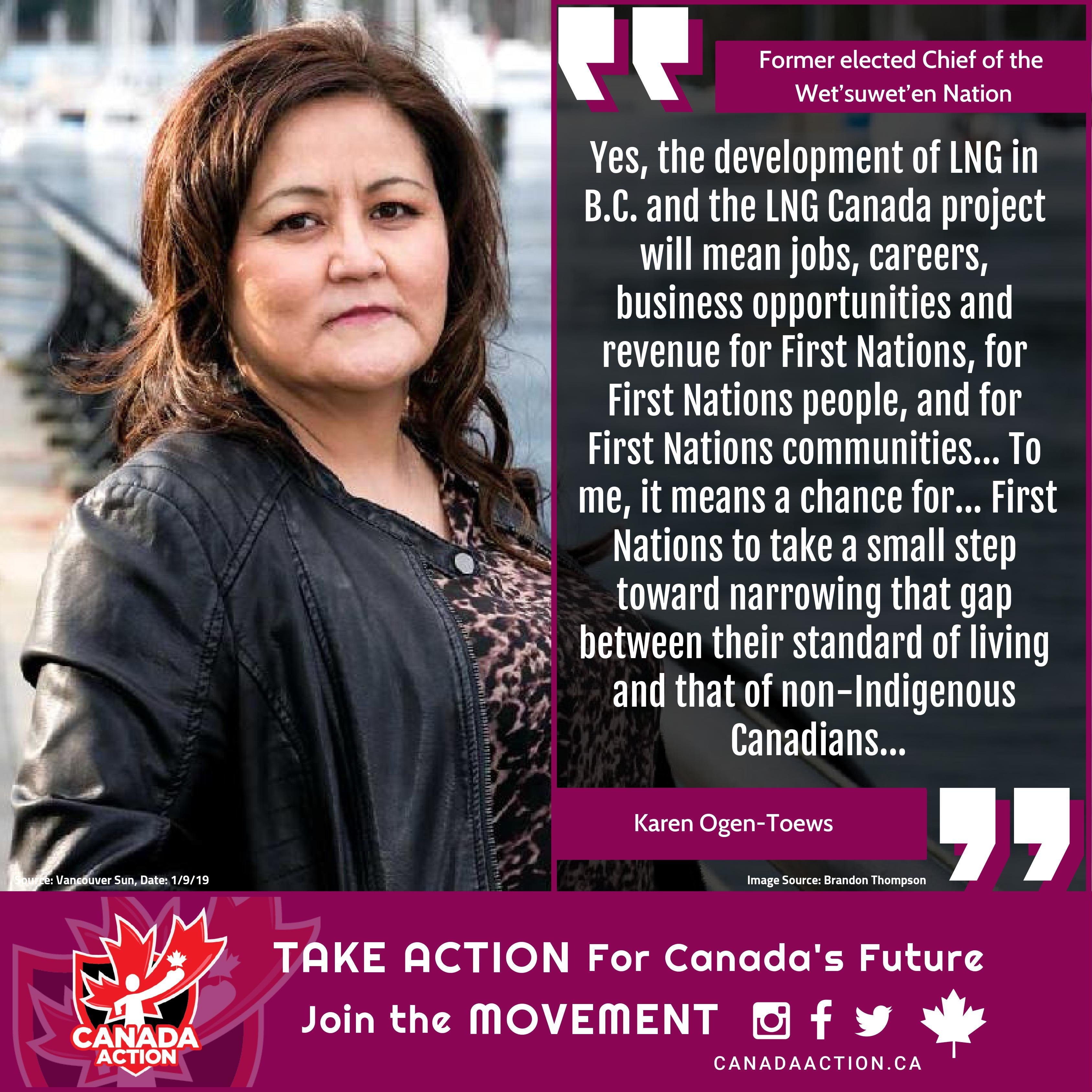 Karen Ogen-Toews Supports BC LNG