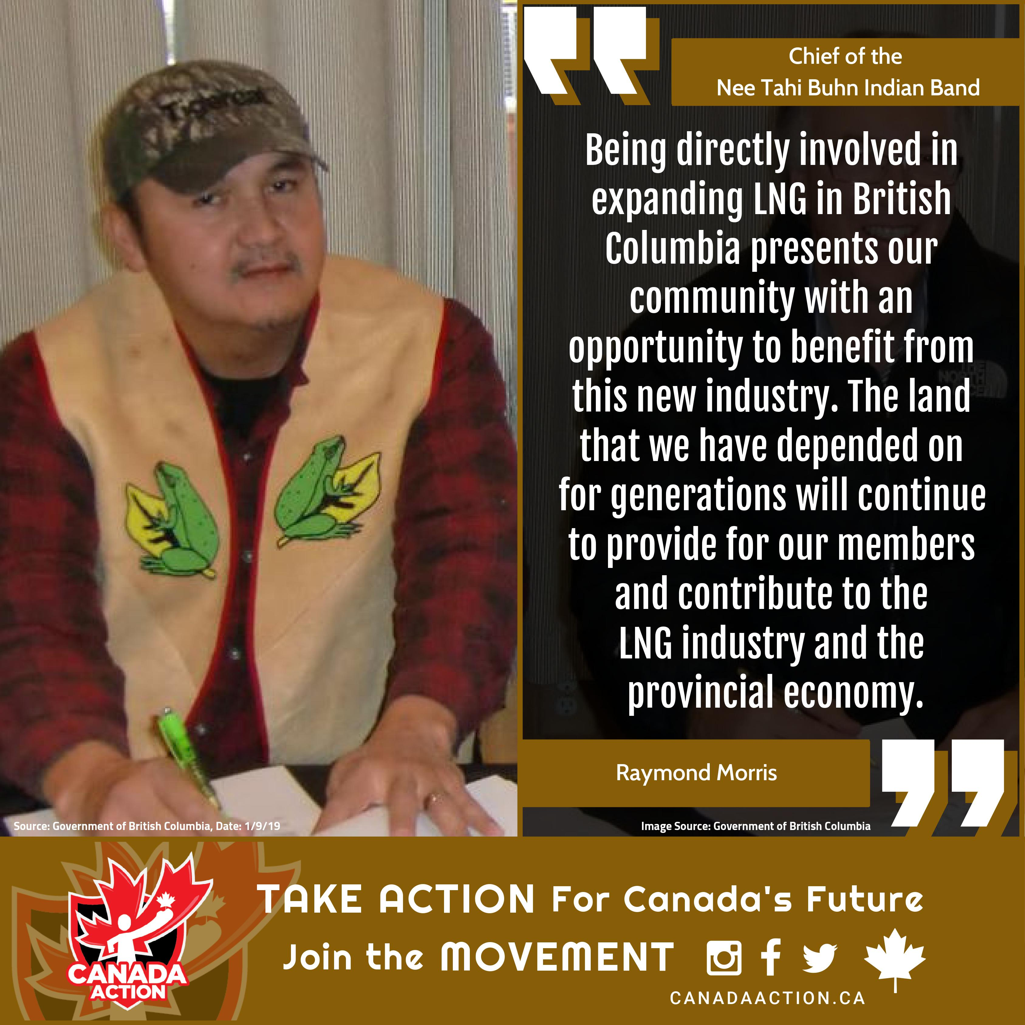 Raymond Morris Supports BC LNG
