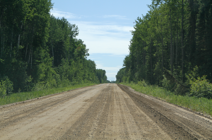 Road to MEG Energy's Christina Lake Oil Sands Project