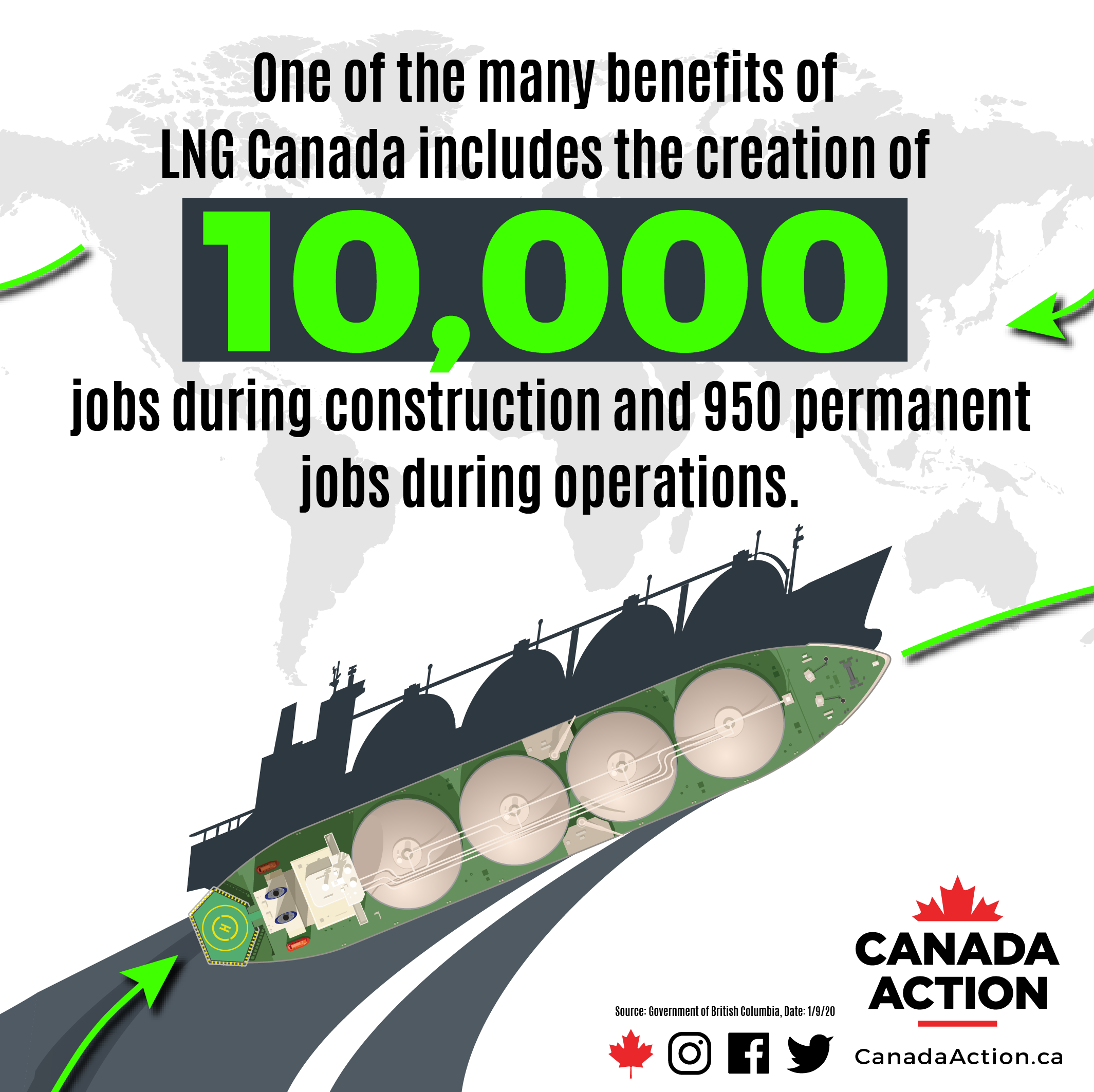 LNG Canada will create up to 10,000 jobs during construction