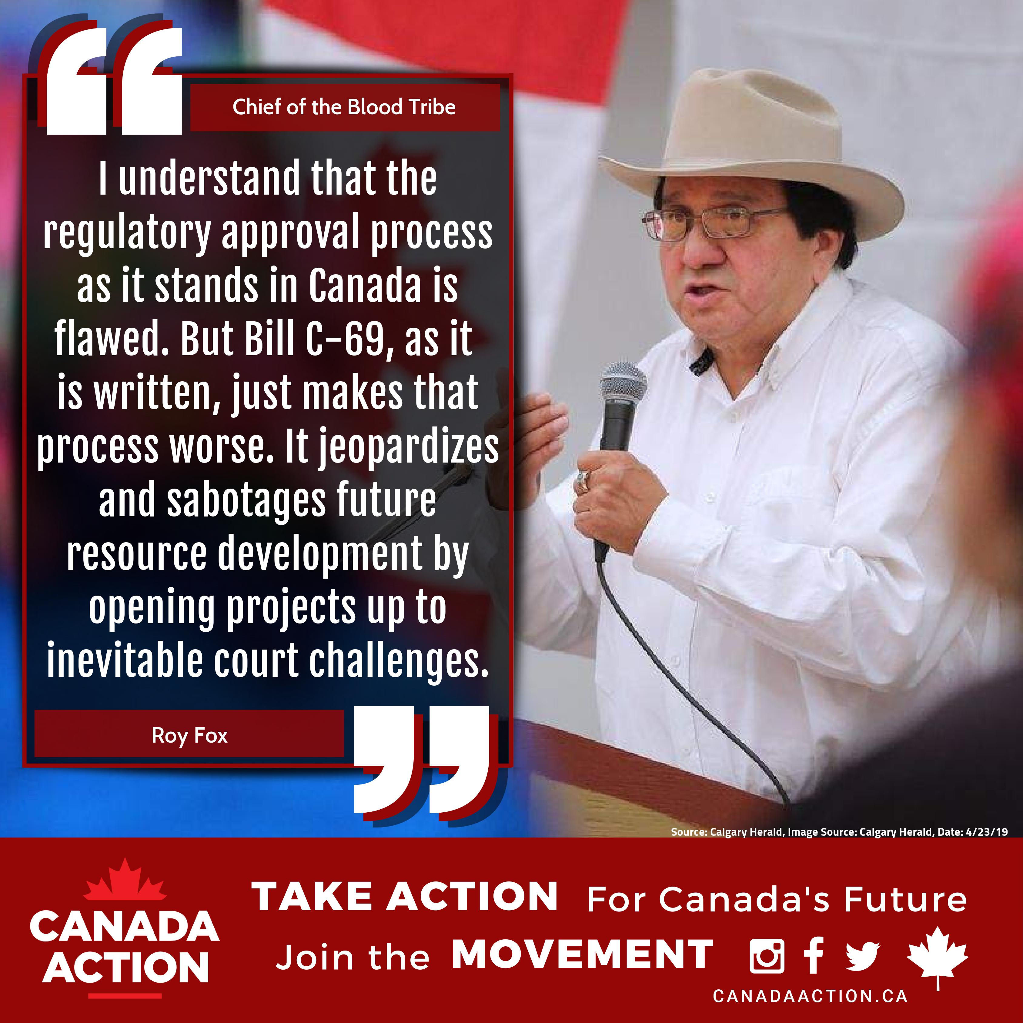 Chief Roy Fox - First Nations Against Bill C-69