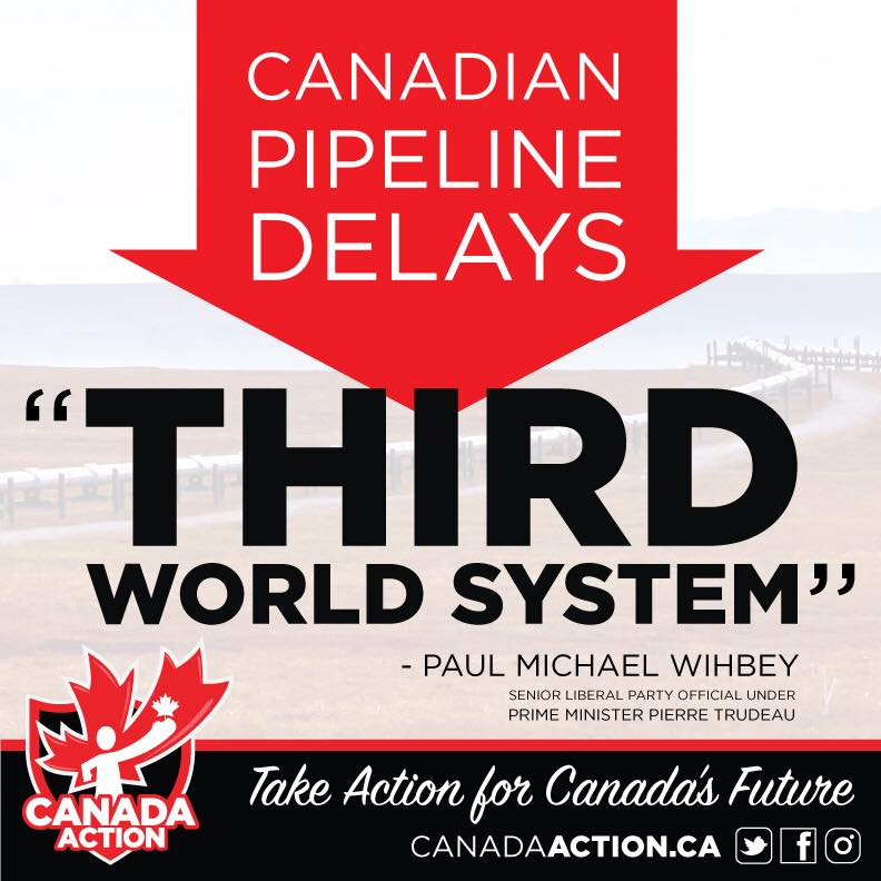 No Pipelines in Canada = Third World Country