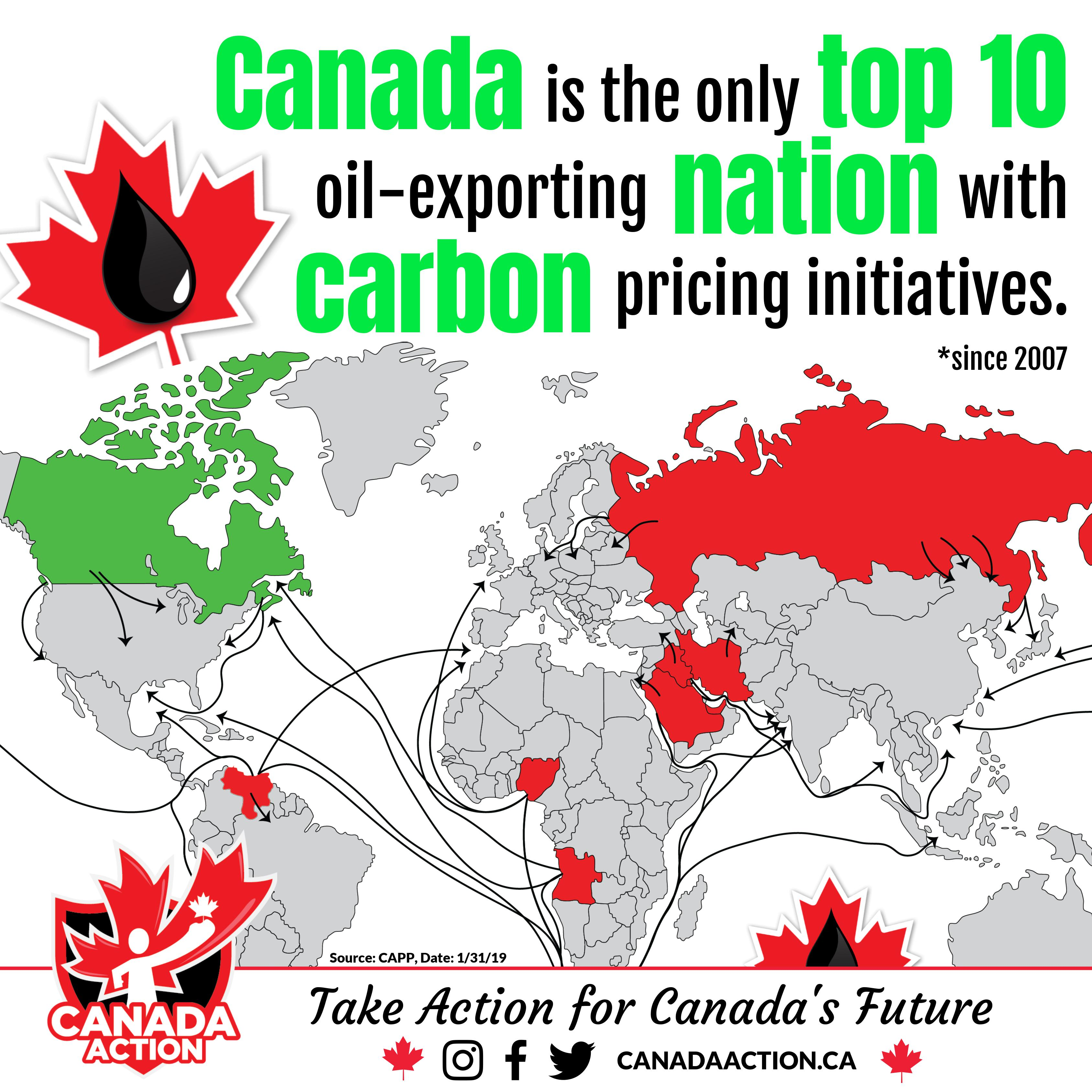 Canada Only Top 10 Oil Exporter With Carbon Pricing