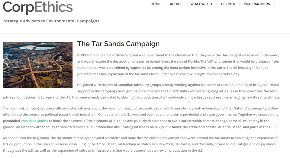 Tar Sands Campaign CorpEthics - Changed