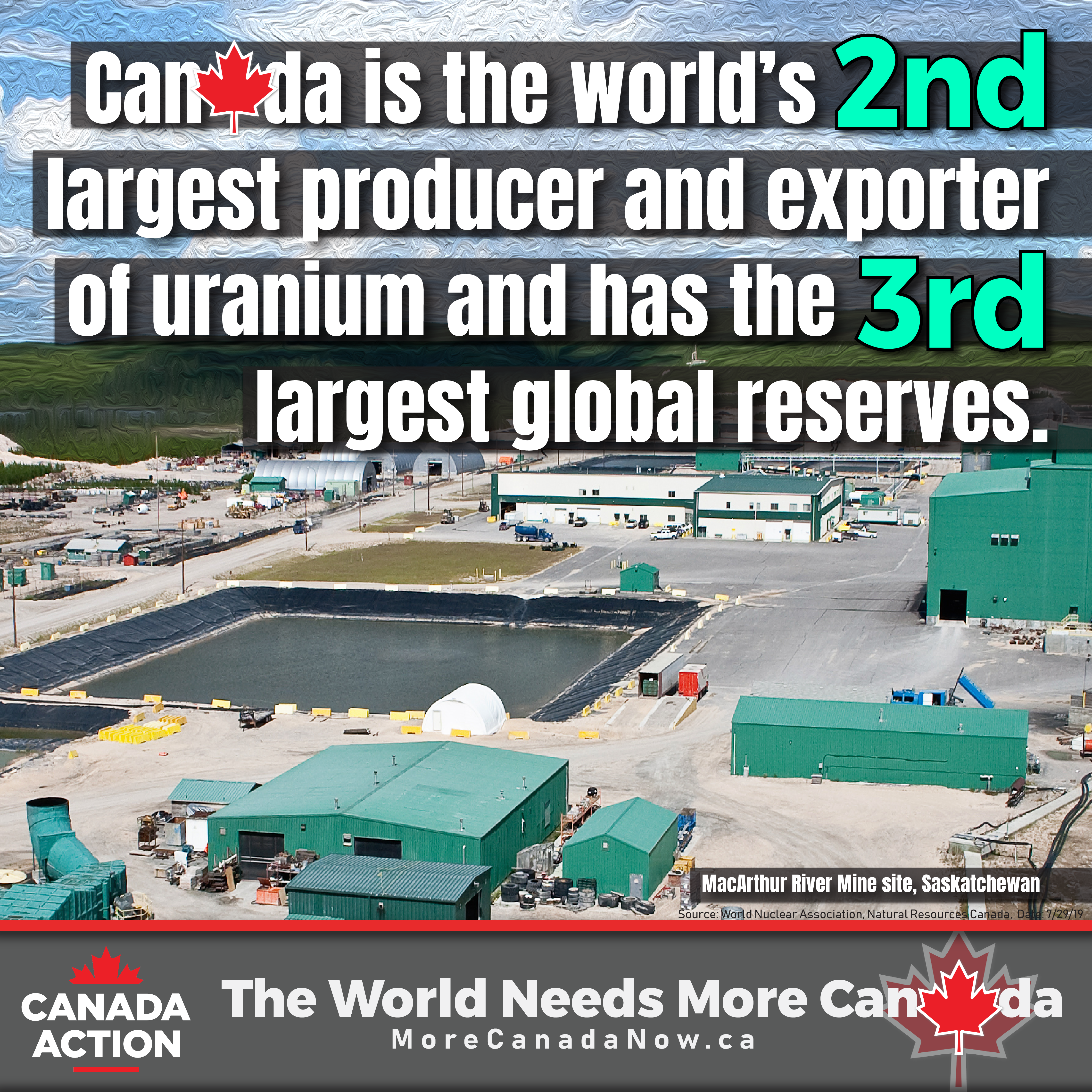 Canada is a top global uranium producer and exporter