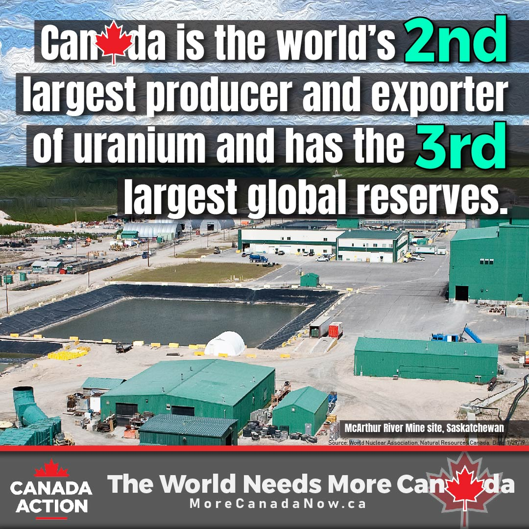 Canada is the world's second largest producer and exporter of uranium