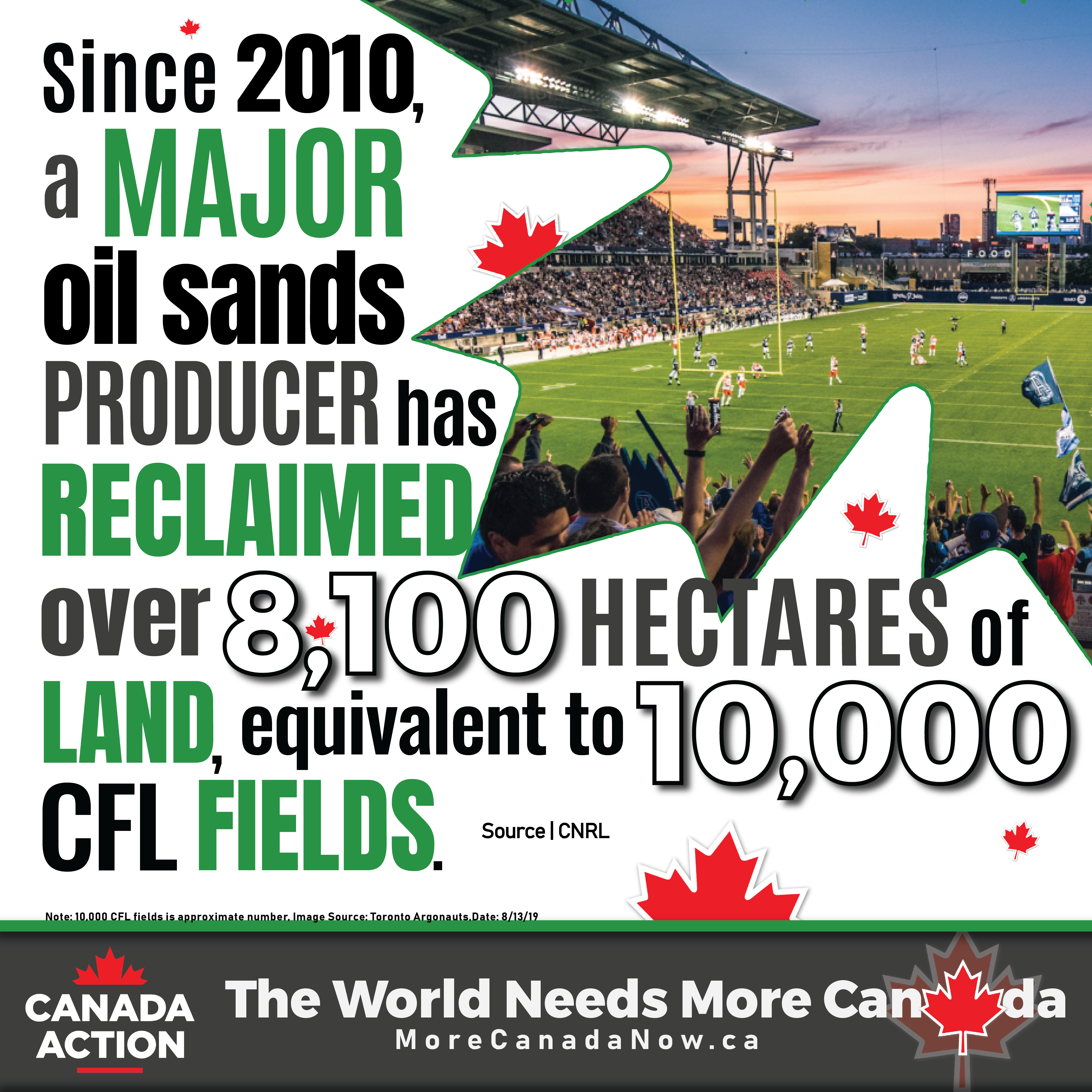 Since 2010, a major oil sands producer reclaimed over 8,100 hectares of land