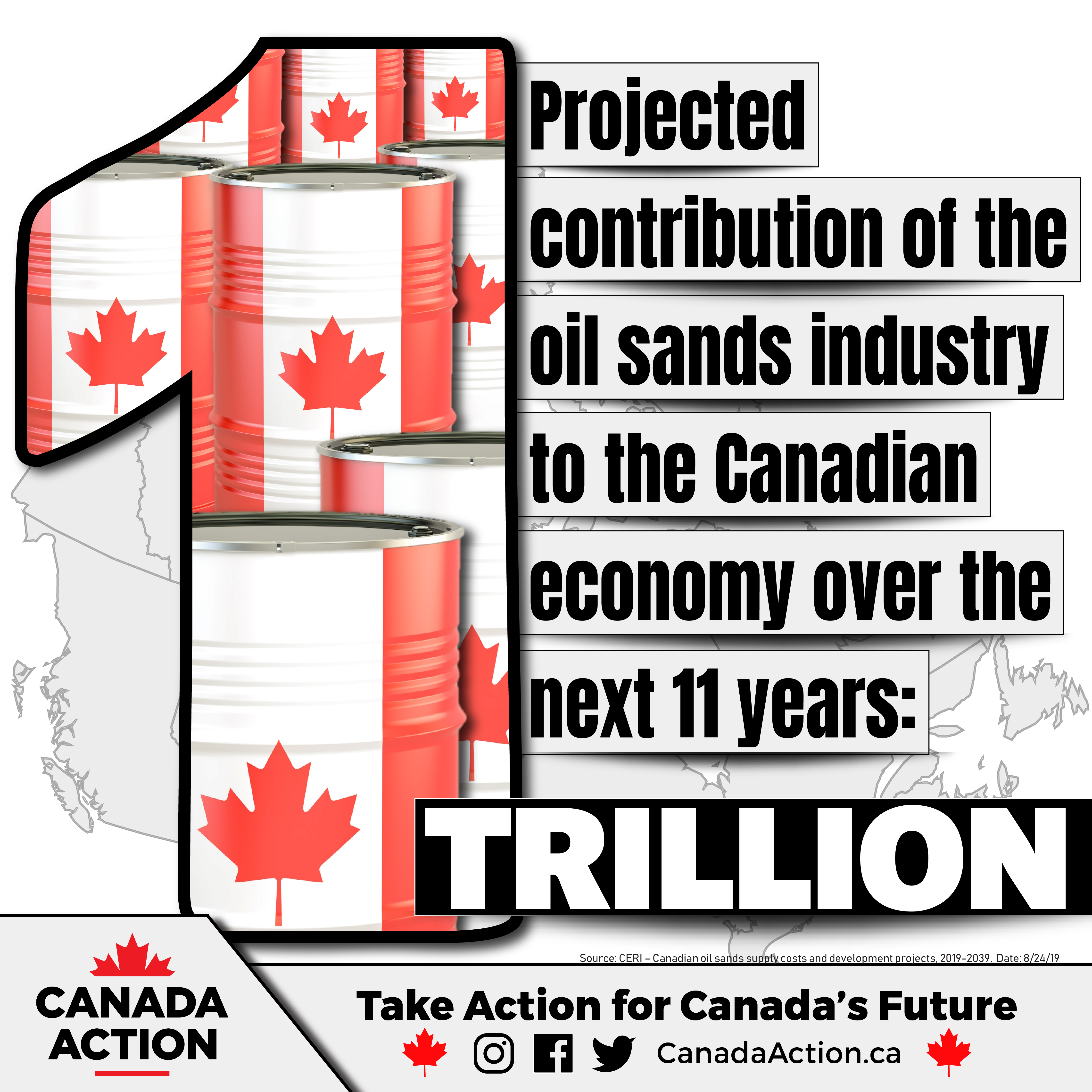 CERI - Oil Sands Industry will contribute $1.01 trillion to the Canadian Economy from 2019-2029