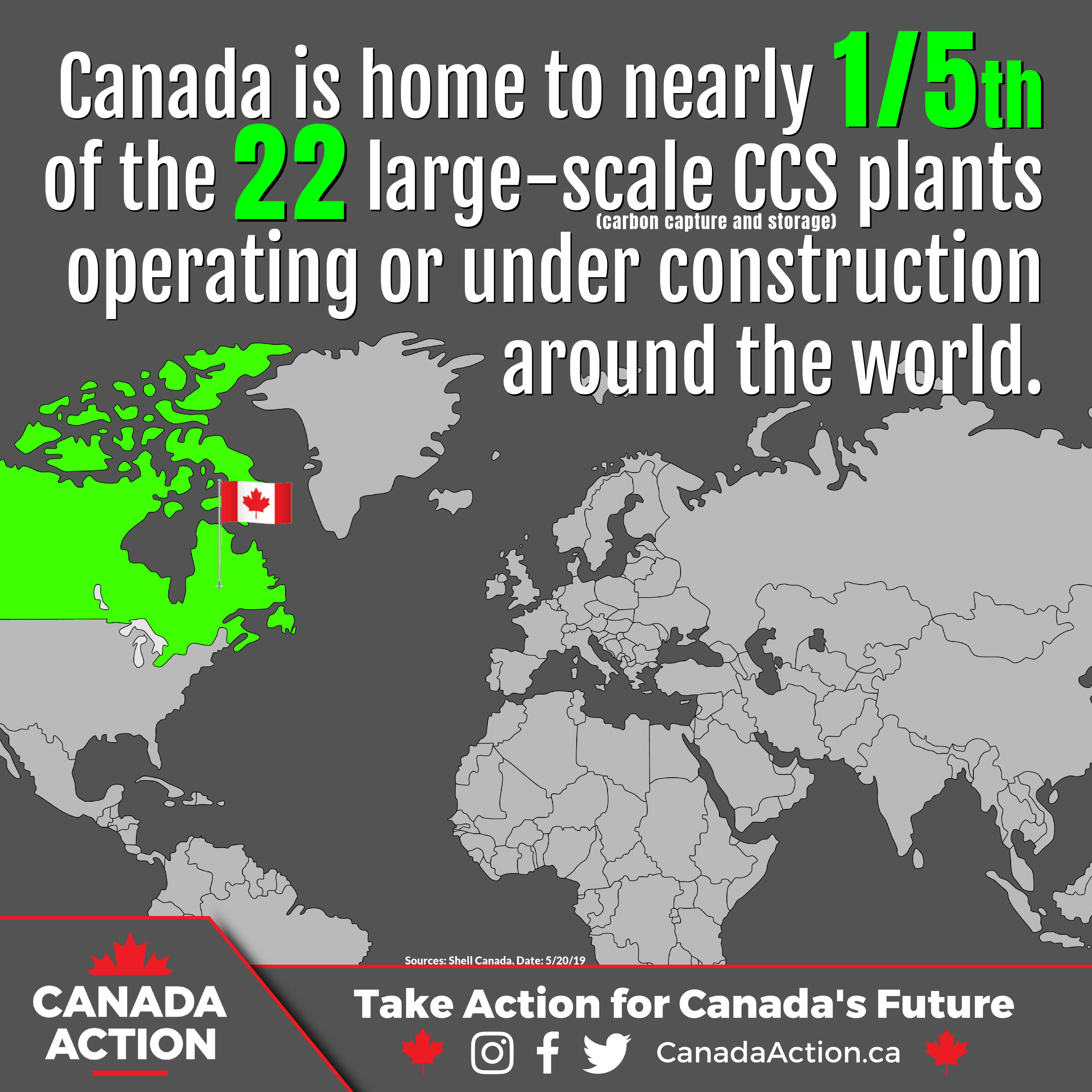 Canada is Home to 1/5th of Commercial Carbon Capture Facilities in the World