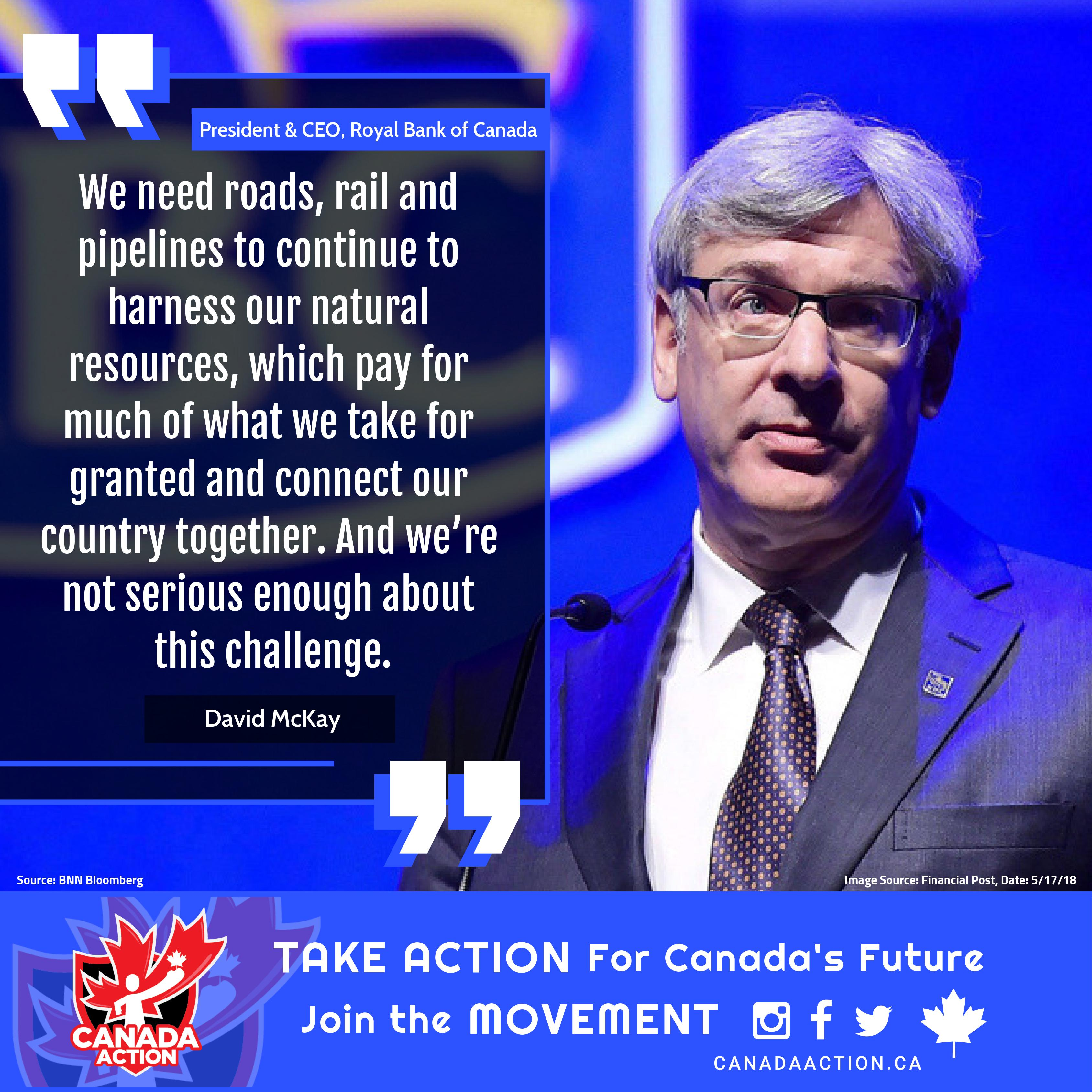 Dave McKay - Canada needs energy infrastructure to prosper, unity