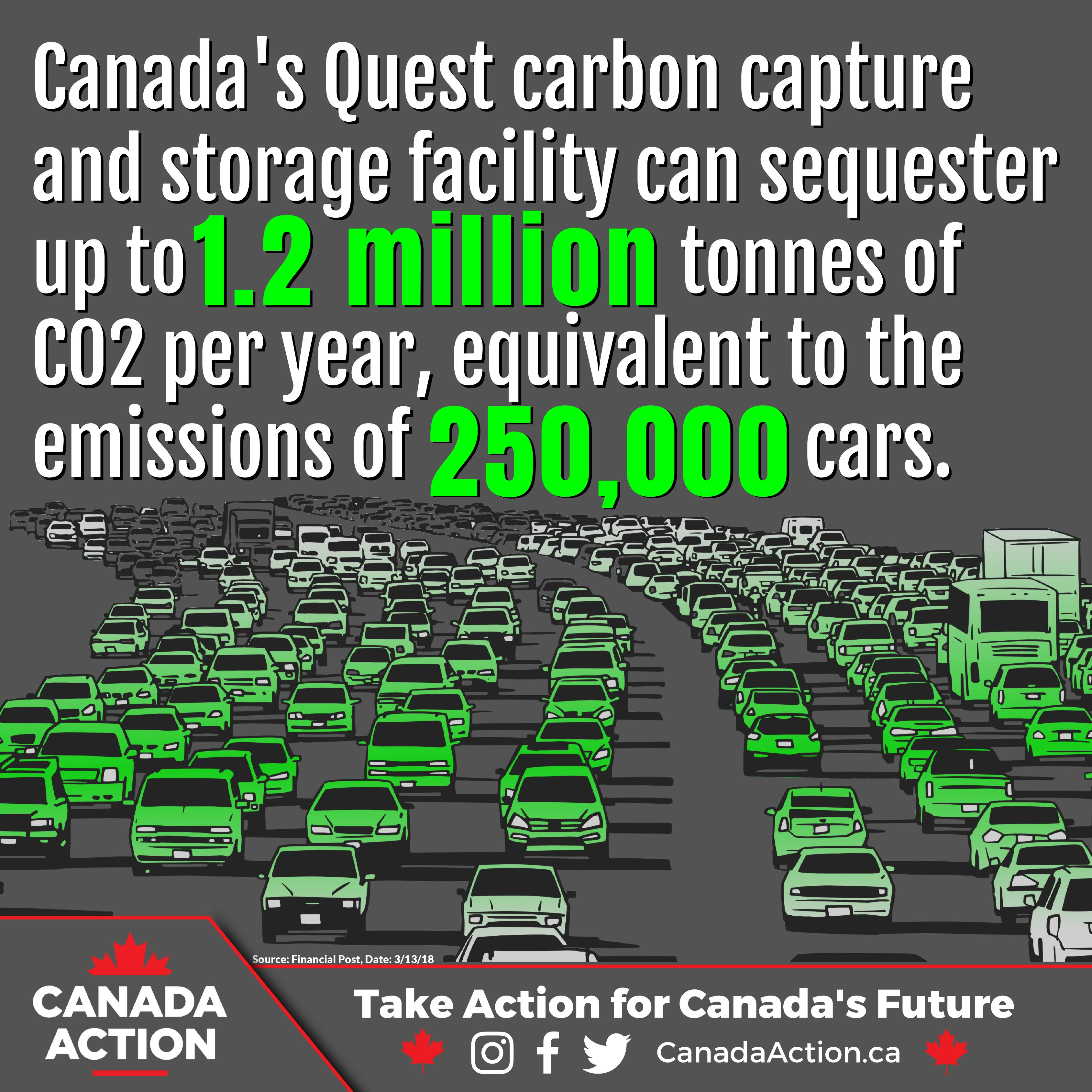 Carbon Capture and Storage - Quest Removes 250,000 Cars off the Road a Year