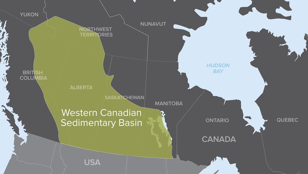 Western Canadian Sedimentary Basin Map