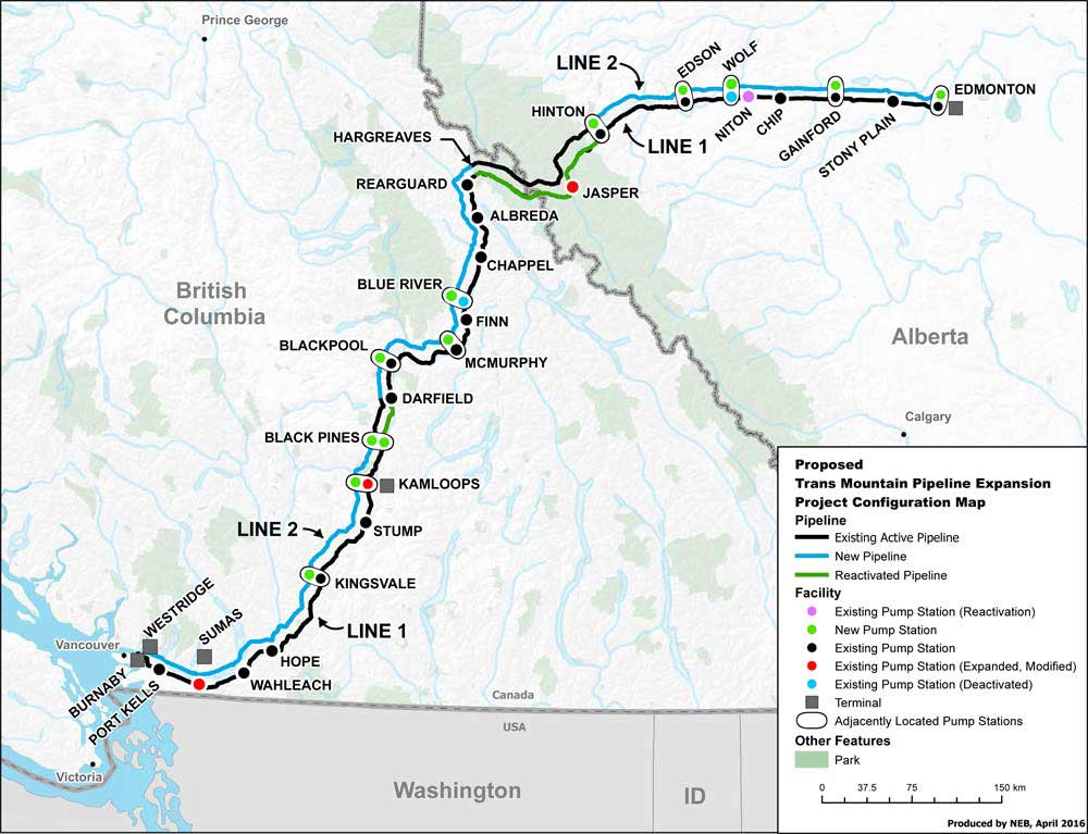 trans mountain expansion map