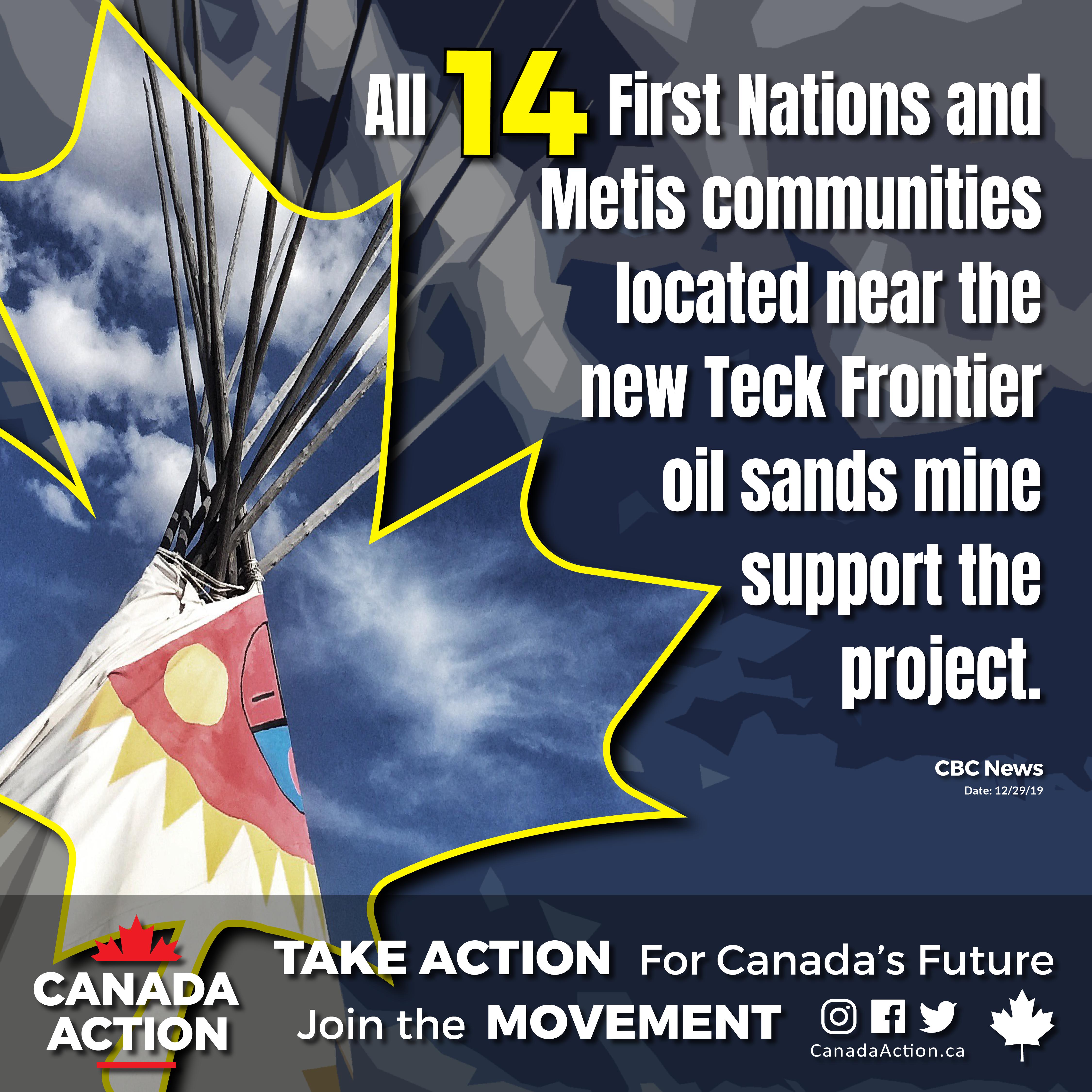 indigenous communities support teck frontier mine